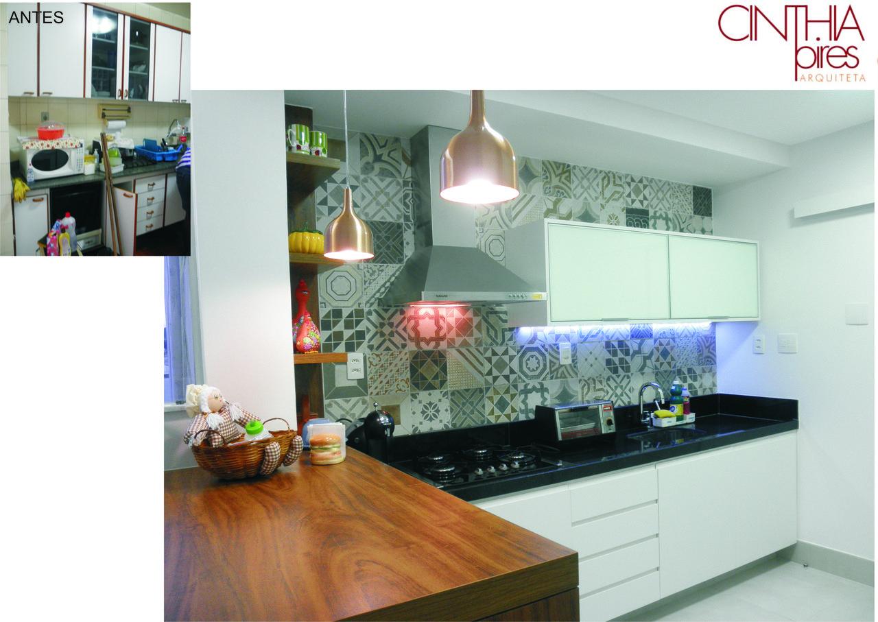Cozinha Com Adesivo De Azulejo De Studio C 49964 No Viva Decora