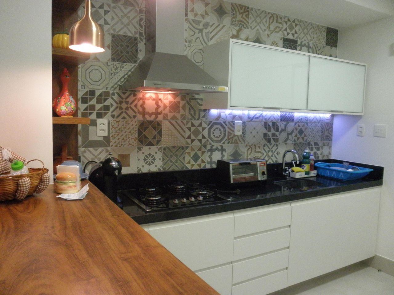Cozinha Com Adesivo De Azulejo De Studio C 49966 No Viva Decora