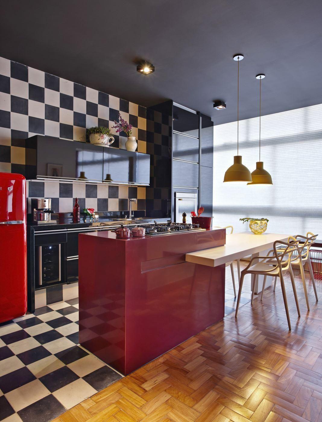 Cozinha Americana Com Azulejo Resimden Com
