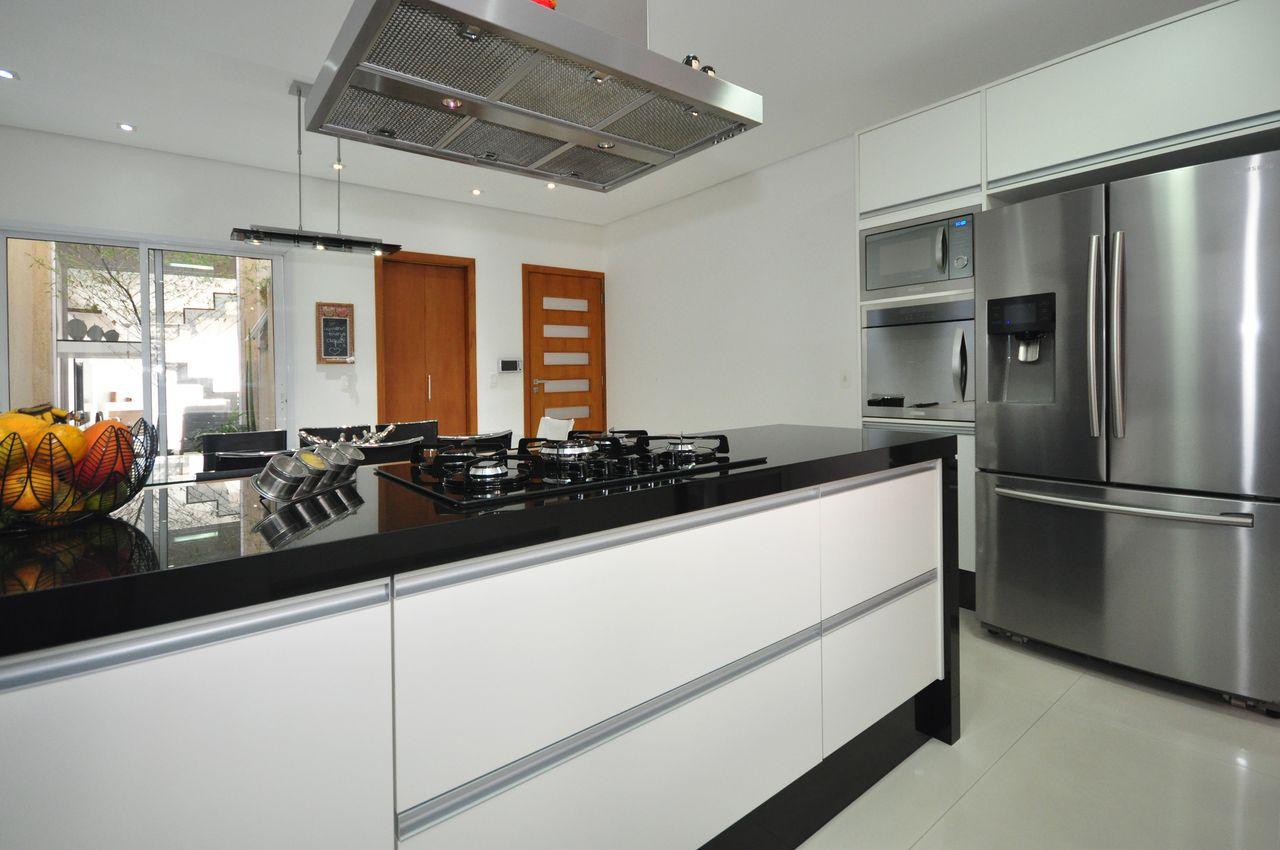 Cozinha Com Cooktop E Coifa De Condecorar Arquitetura E Interiores