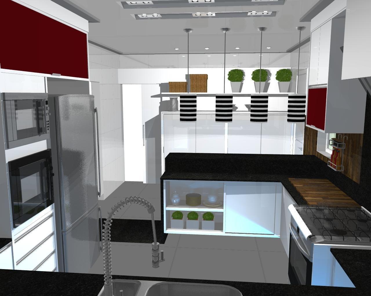Cozinha Com Lumin Ria Pendente De Luiz Otavio 50744 No Viva Decora