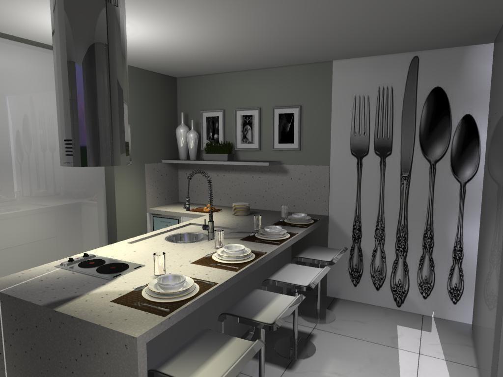 Cozinha Com Papel De Parede De Talher De L O Balicas 46088 No Viva