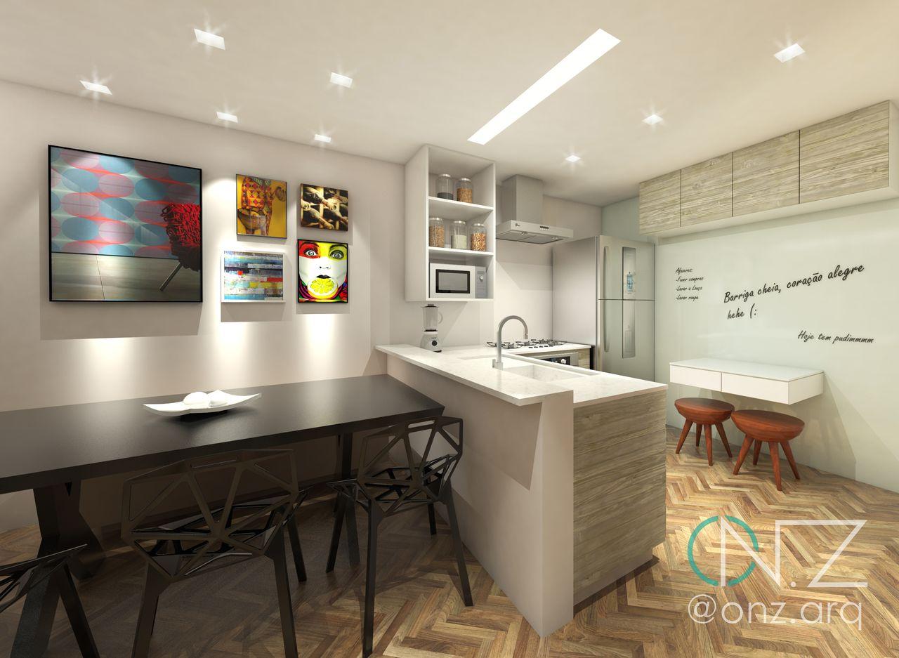 Cozinha Integrada Moderna R Stica De P Rola Camargo 144327 No Viva