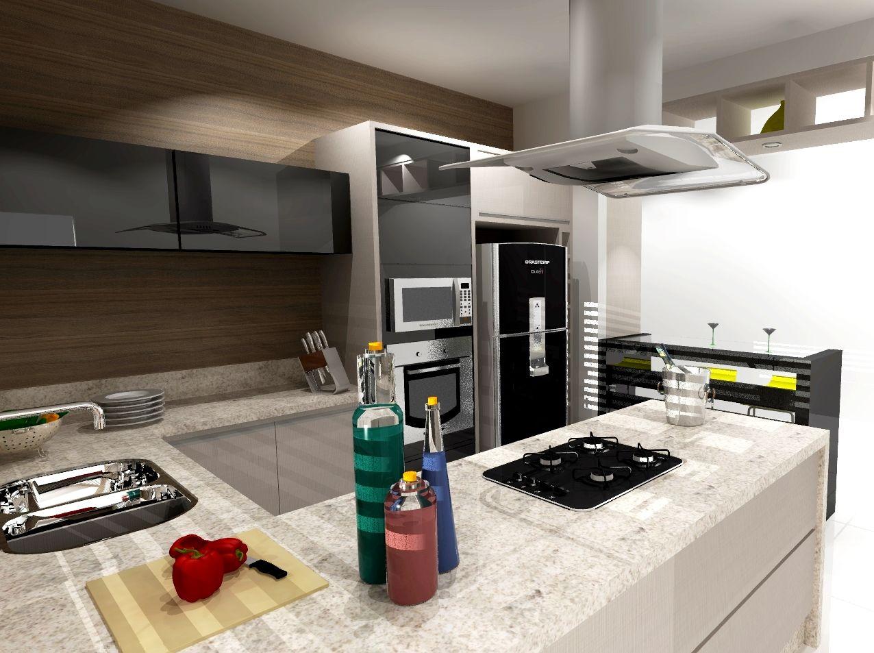Cozinha Moderna Integrada De Willian Matias 140312 No Viva Decora