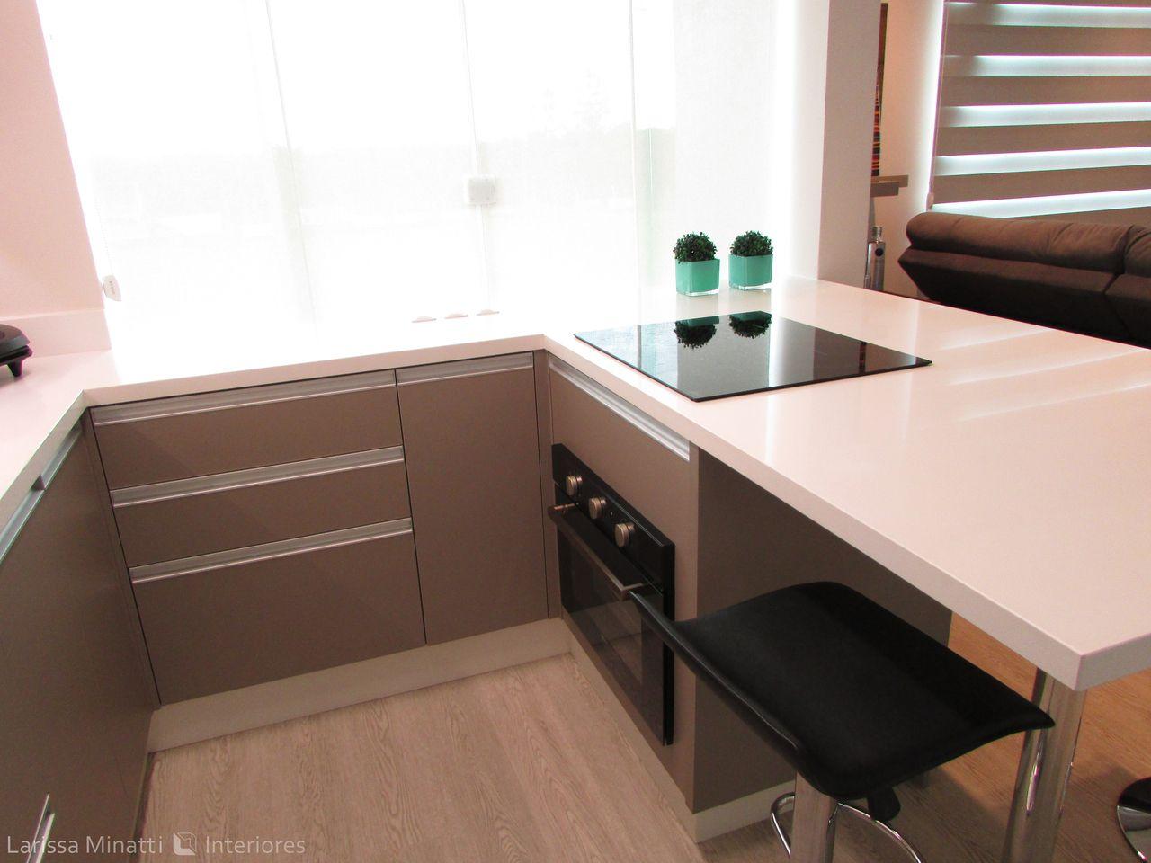Cozinha Americana Com Piso De Madeira De Larissa Minatti 133211 No