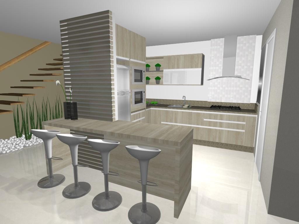 Cozinha Pequena De Ponto Arquitetura 52025 No Viva Decora