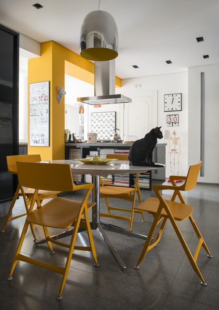 Cozinha Americana Amarela Chez Caro Cozinhas Modernas Por Mmaverick