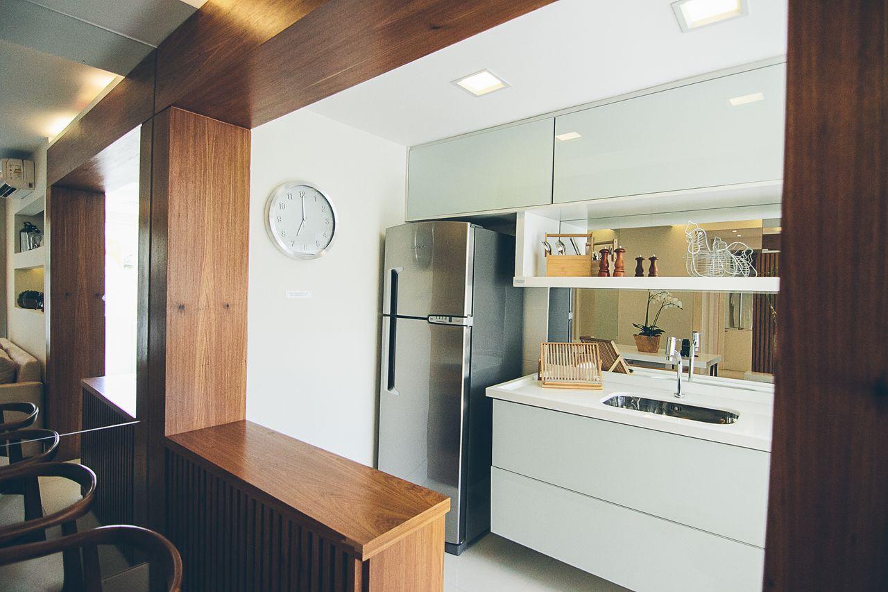 Cozinha Madeira Moderna Decorao Cozinha Americana Moderna Com Balco