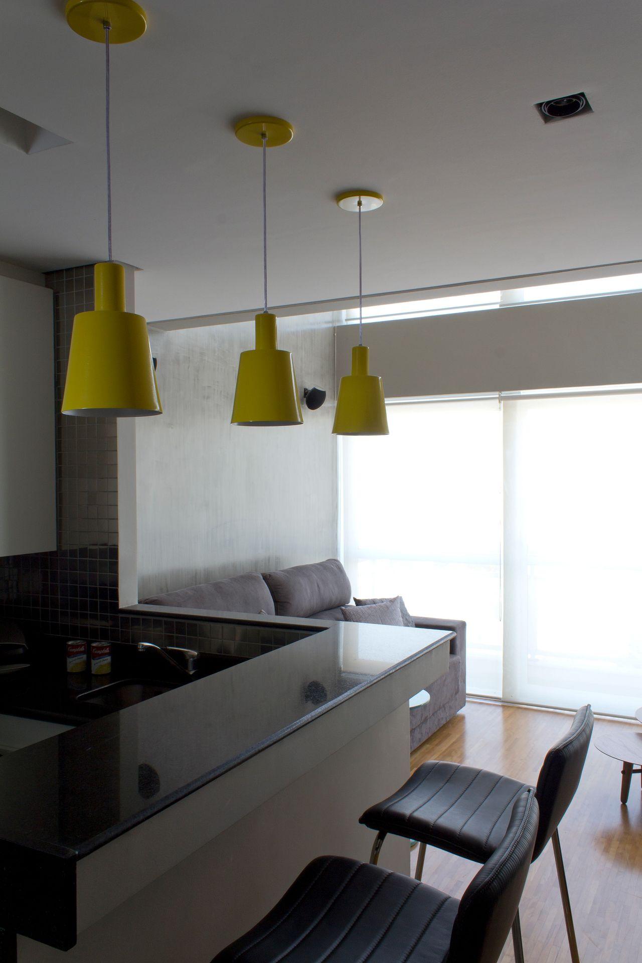 Cozinha Americana Moderna Integrada Sala De Sem Ramis Alice