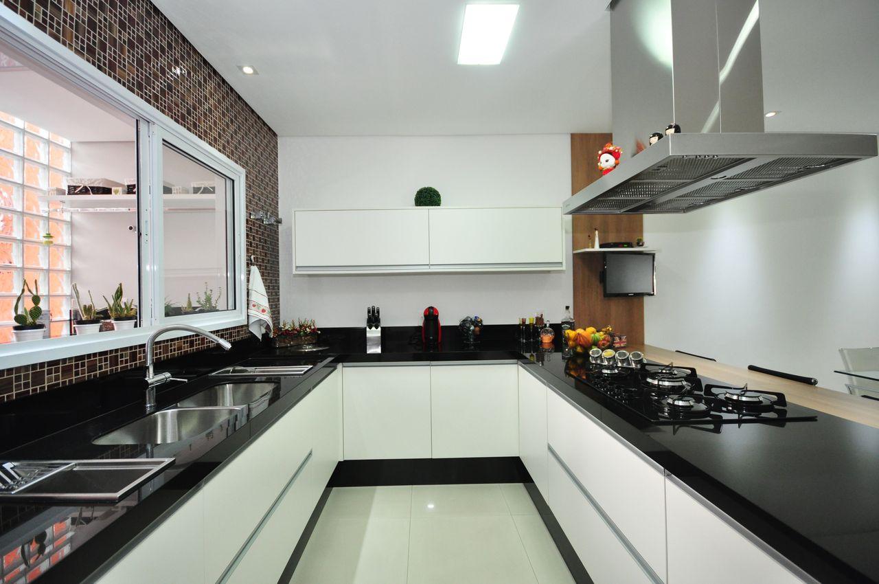 Cozinha Americana Branca Foto Reproduo Monise Rosa Arquitetura With