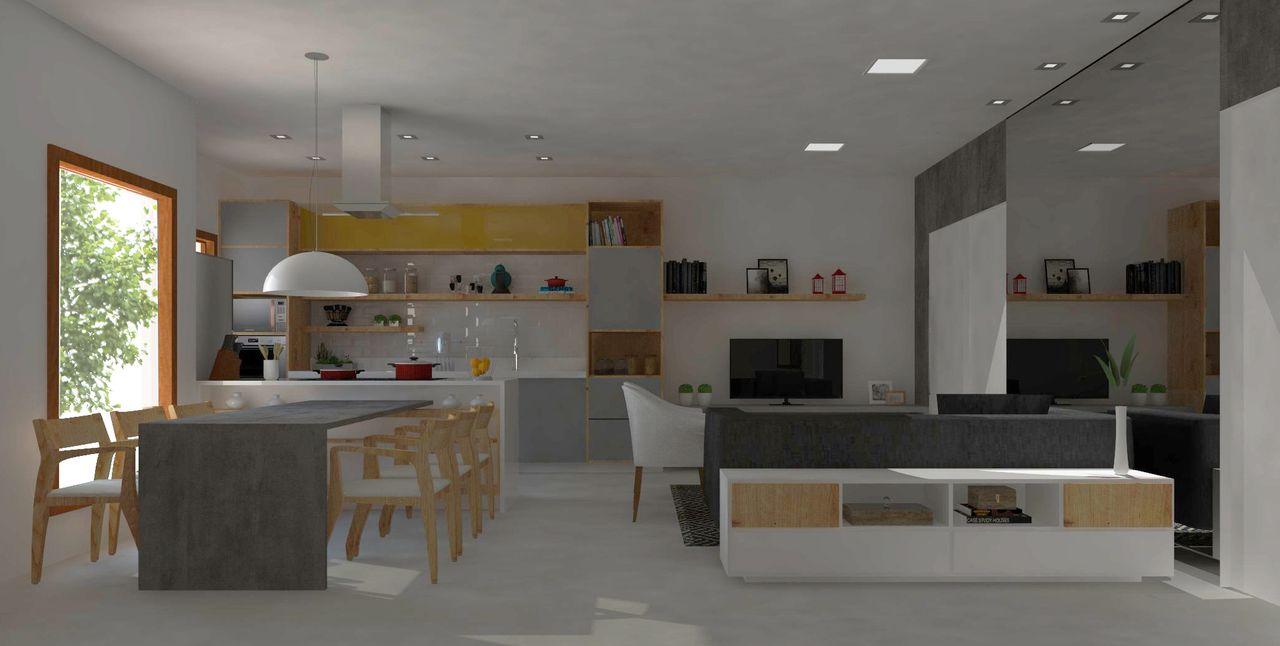 Sala De Estar Jantar E Cozinha Integrados De Studio 697 141862 No
