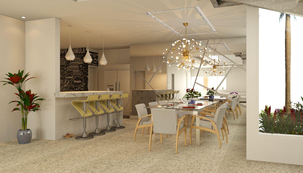 Projeto Cozinha Americana Com Sala De Jantar Oppenau Info
