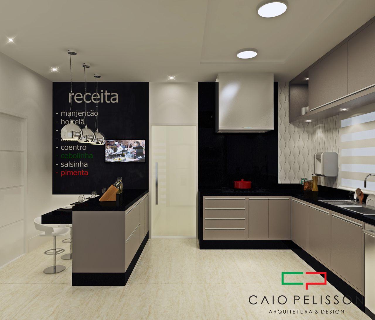 Arm Rios Cinza E Parede Preta De Arquiteto Caio Pelisson 163091 No