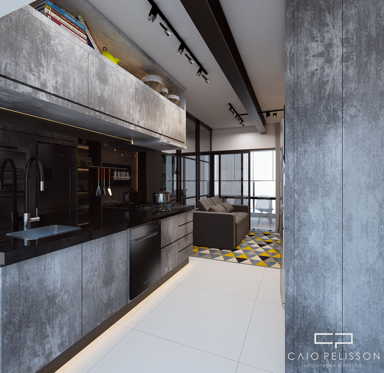 Cozinha Cinza Estilo Industrial De Arquiteto Caio Pelisson 154386