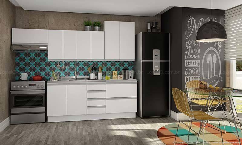 2909b38a1 Decoração Cozinha compacta Cozinha Moderna com Parede de Quadro Negro  lojaskd 140652
