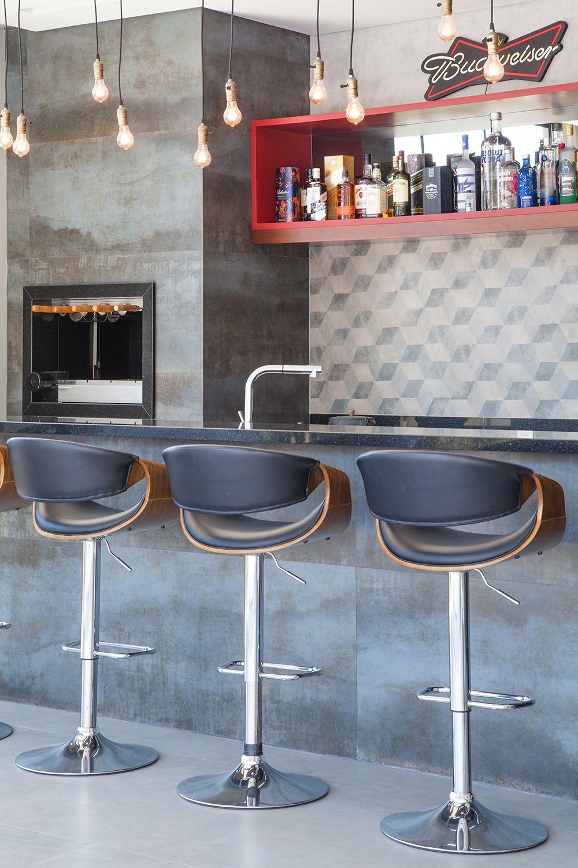 Churrasqueira Revestida Com Cimento Queimado De Metrik Design