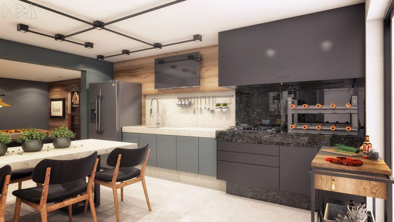 Rea De Lazer Com Cozinha E Sala Integradas De Ub Arquitetura