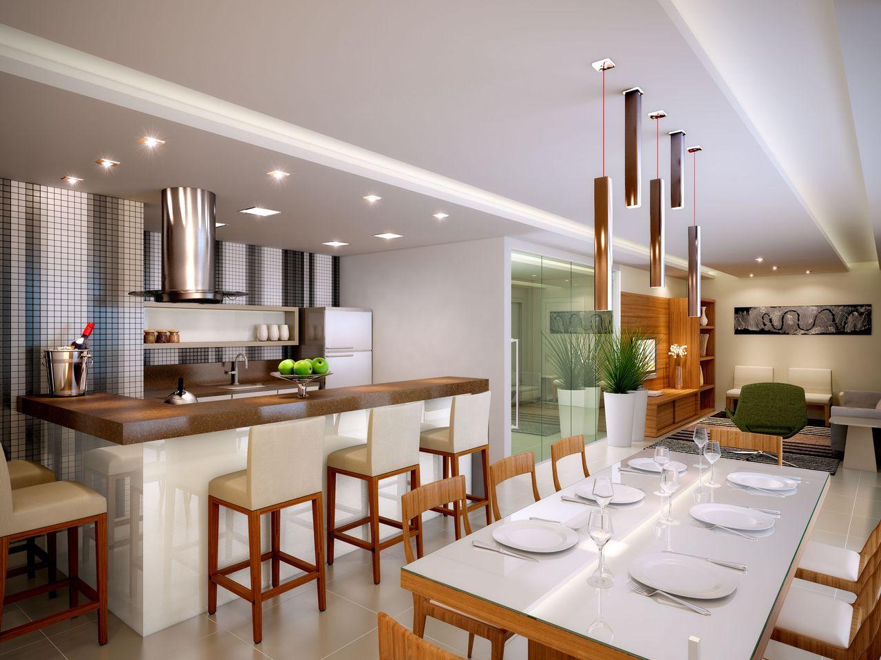 Area Gourmet Integrada Com A Cozinha Oppenau Info