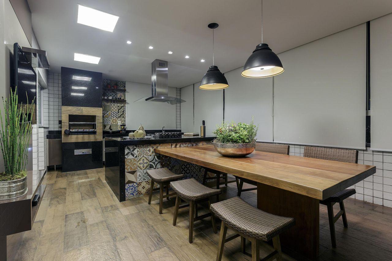 Area Gourmet Com Cozinha Arquitetura Cozinha A Arquiteta Maria De