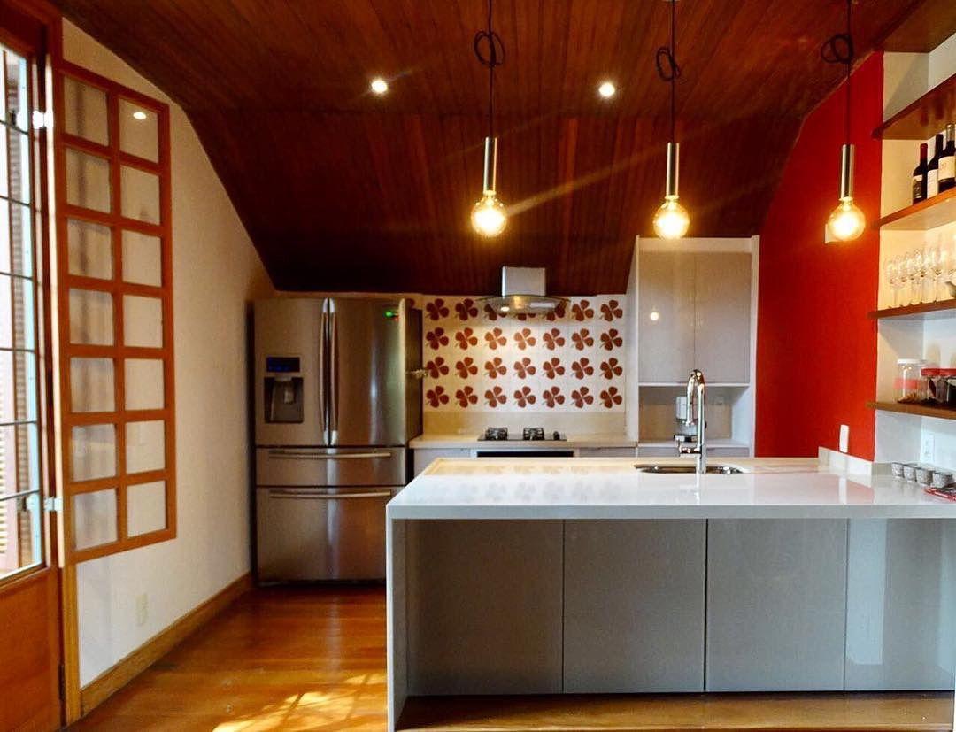 Cozinha Branca E Vermelha De Interarqui Ana Paula Lacerda E Vanesa