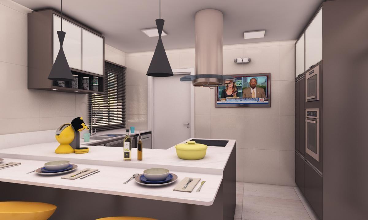 Cozinha Gourmet Com Cafeteira Amarela De Raduan Arquitetura 105660