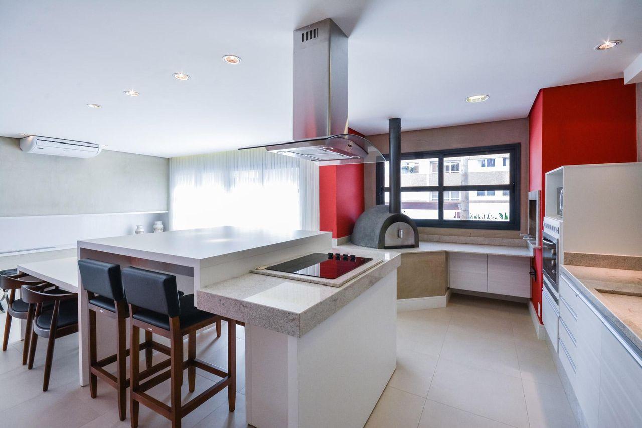 Cozinha Gourmet Com Forno De Pizza De Bender Arquitetura 83388 No