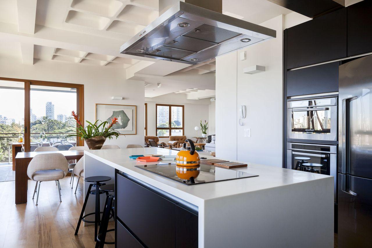 Cozinha Branca E Preta De D Ptico Design De Interiores 158684 No