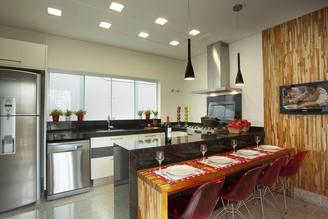 Cozinha Com Balc O Preto