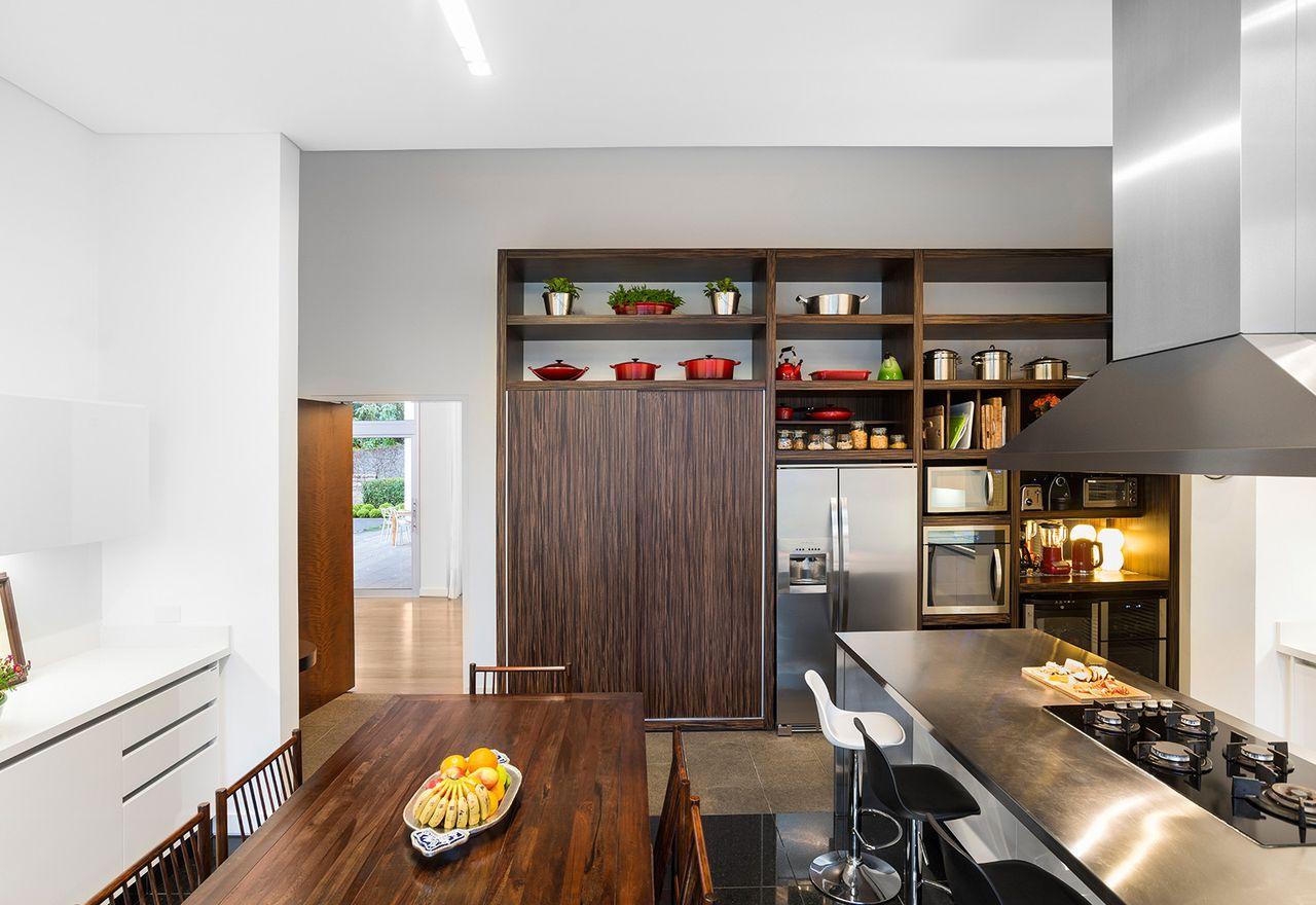 Cozinha Com Ilha E Sala De Jantar Integradas De Leonardo Muller