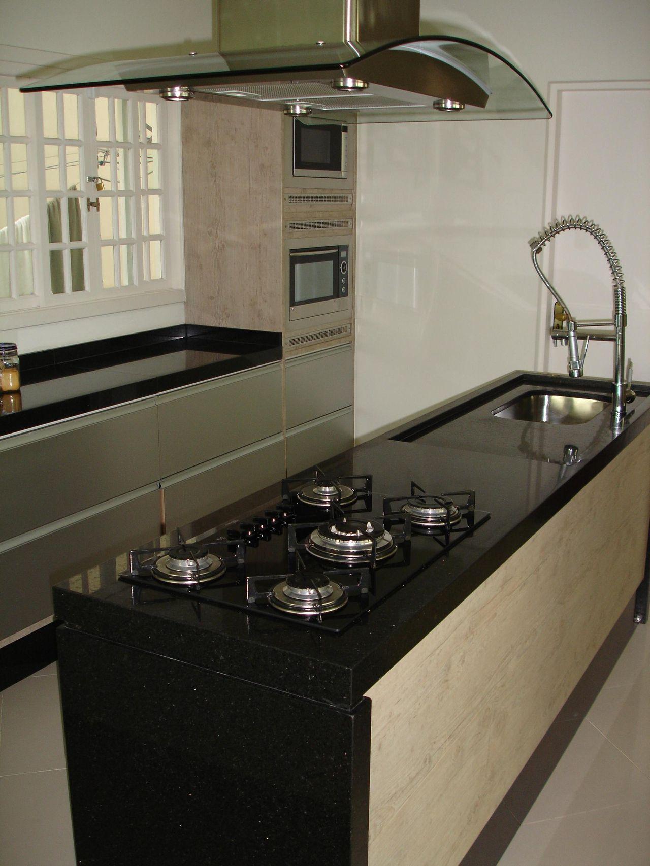 Cozinha Com Ilha Simples Cozinha Pequena Com Bancada Central