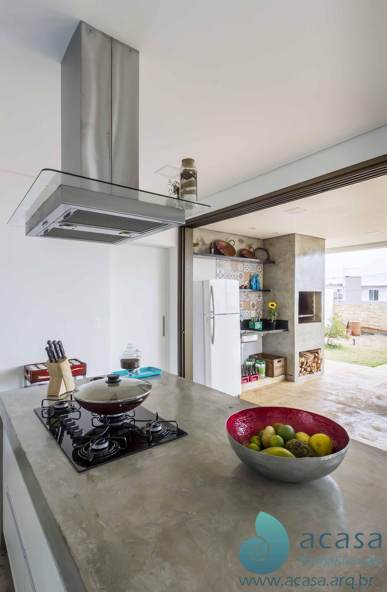 Cozinha E Churrasqueira Integradas De Acasa Forma Fun O 137763 No