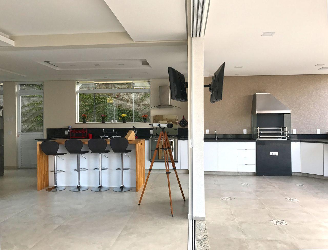 Cozinha E Espa O Gourmet Neutros De Ilha Arquitetura 142257 No
