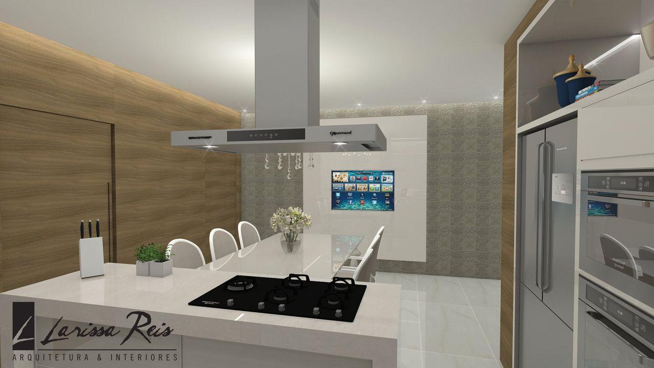 Cozinha Com Ilha E Cooktop De Larissa Reis 142026 No Viva Decora