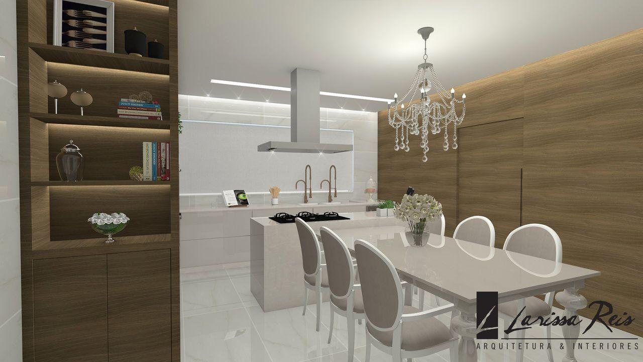 Sala De Jantar Moderna Com Toques Cl Ssicos De Larissa Reis 142029