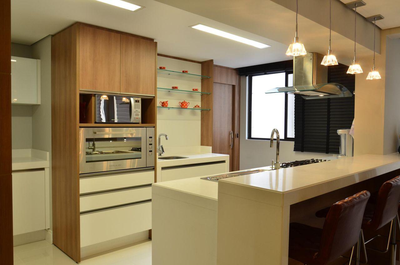 Cozinha Planejada Com Prateleiras De Vidro De Roma Arquitetura