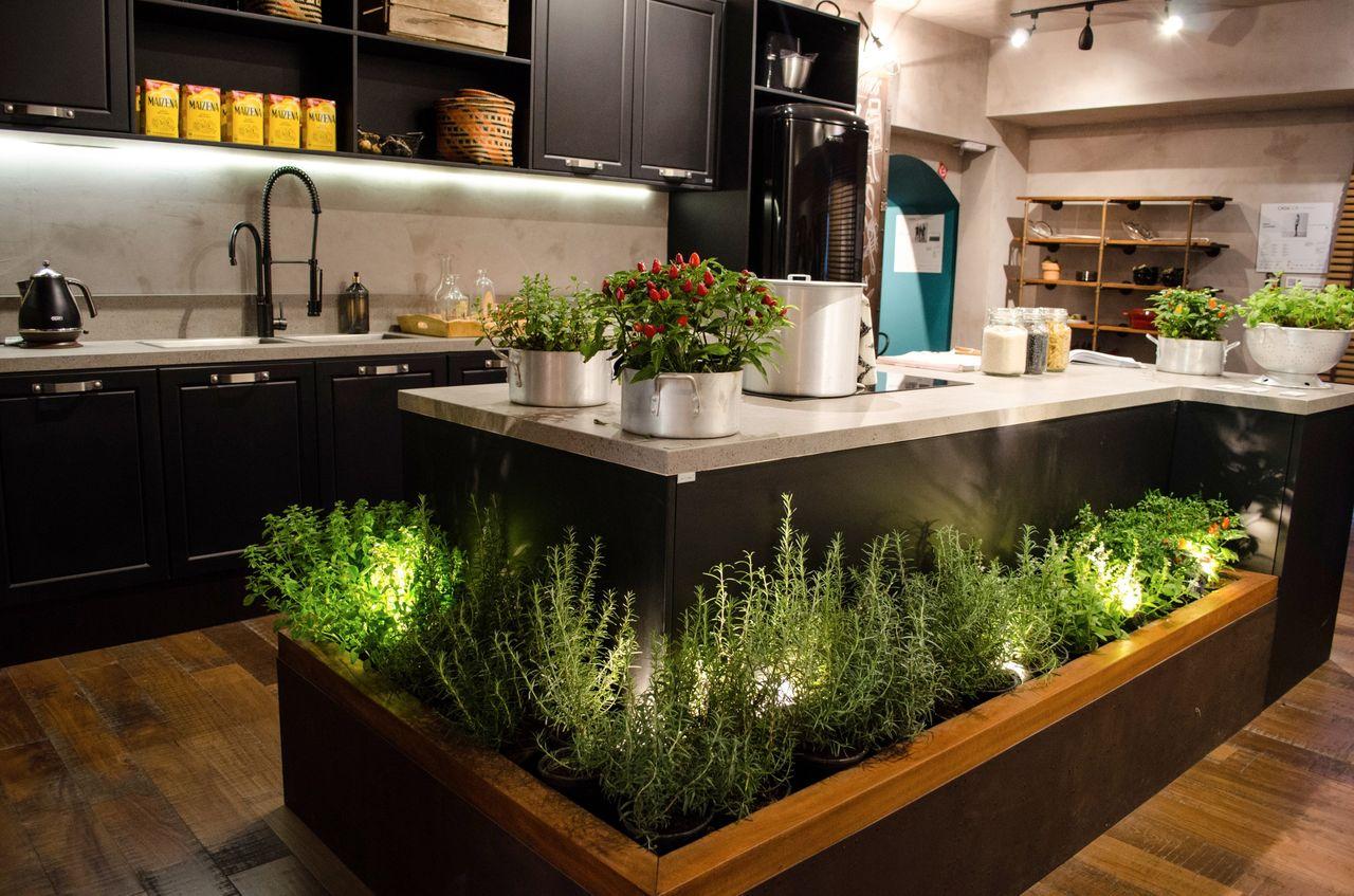 Decorao De Cozinha Com Ilha Interior Luxuoso Cozinha Moderna