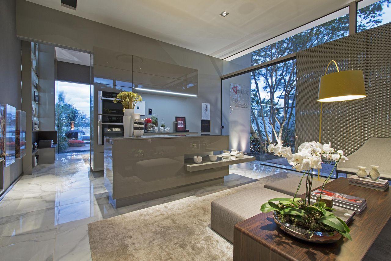 Sala Integrada Com Cozinha E Area Gourmet Mediabix Com