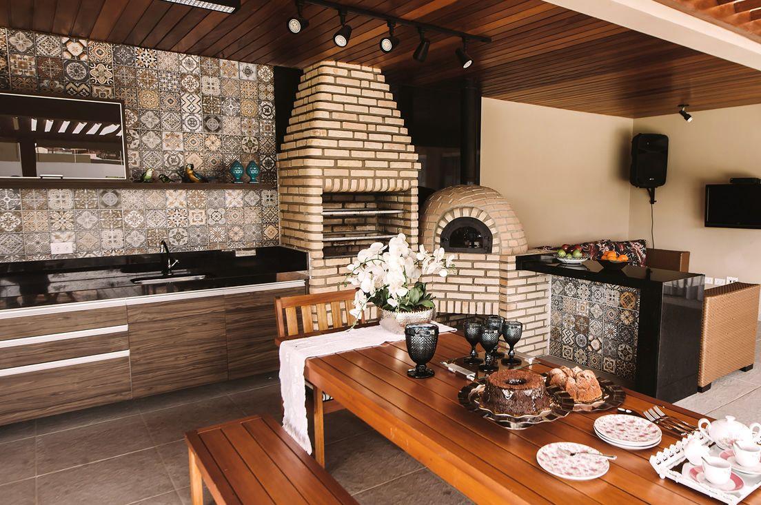 Cozinha Gourmet Com Churrasqueira De Tijolinhos De Favorita Movdecor
