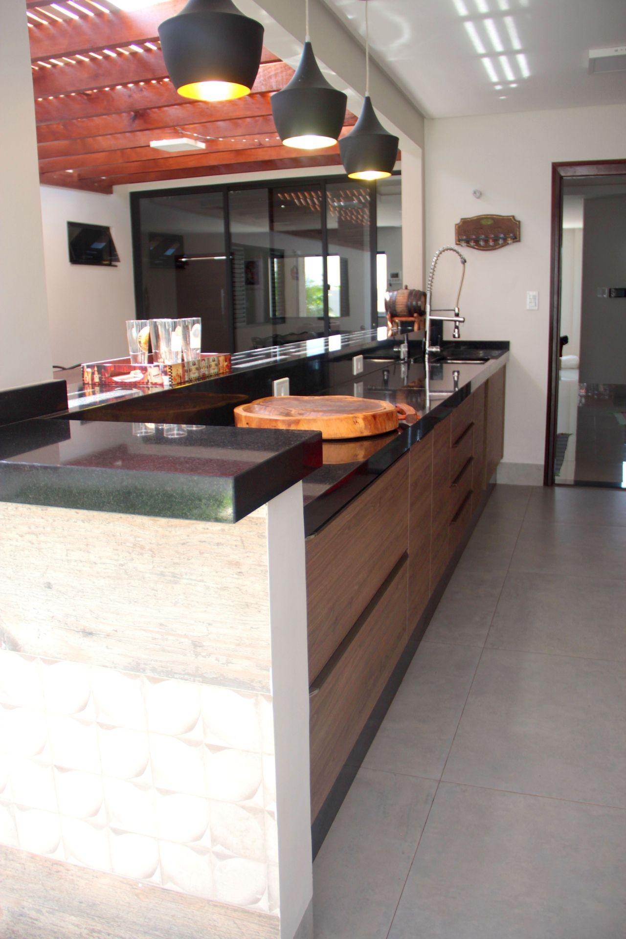 Cozinha Com Lumin Rias Pendente Preto Fosco De Favorita Movdecor