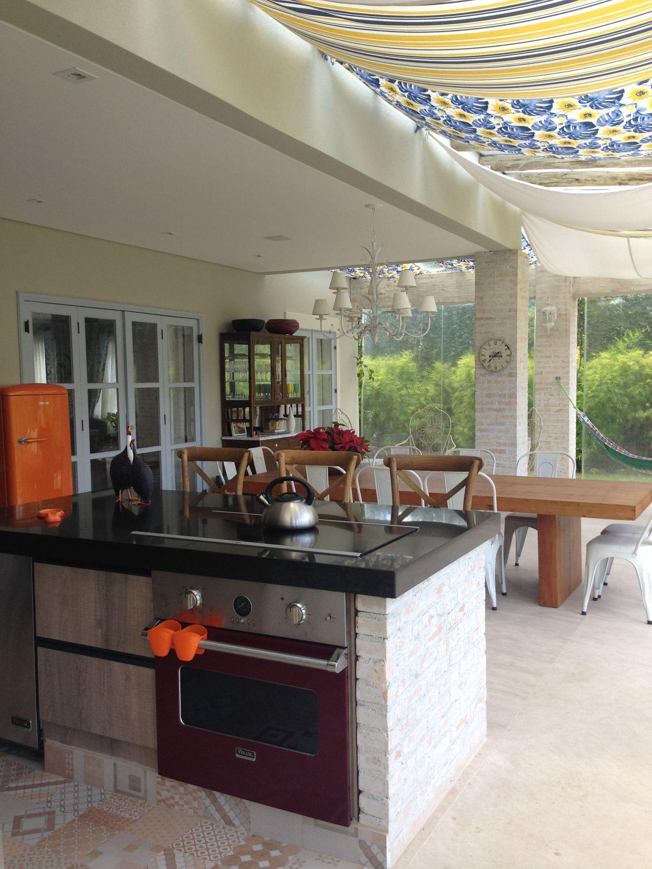 Cozinha Gourmet Na Rea Externa Da Casa De Susana Requi O 152188