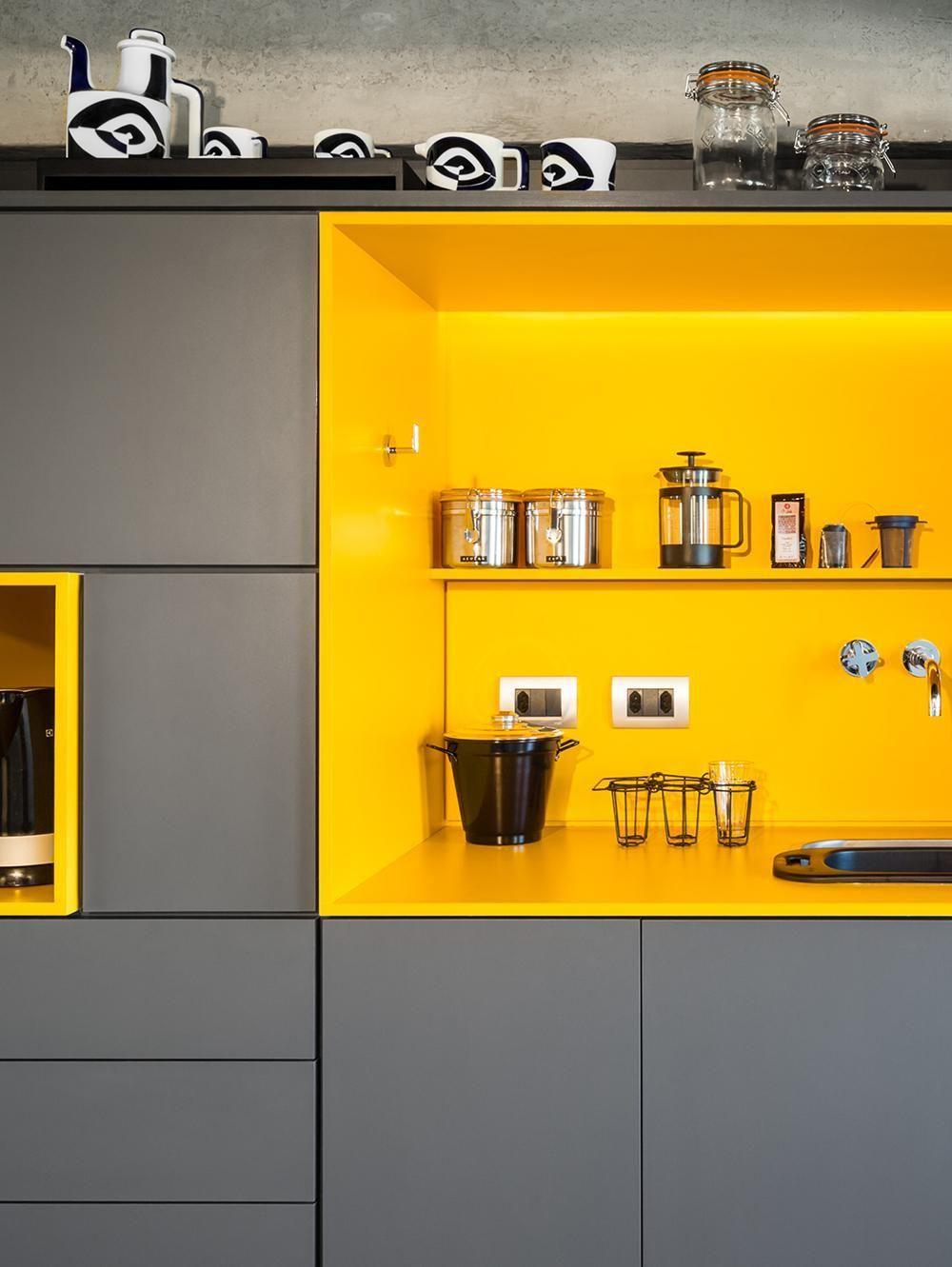 Arm Rio De Cozinha Amarelo E Cinza De Stuchi E Leite 22103 No Viva