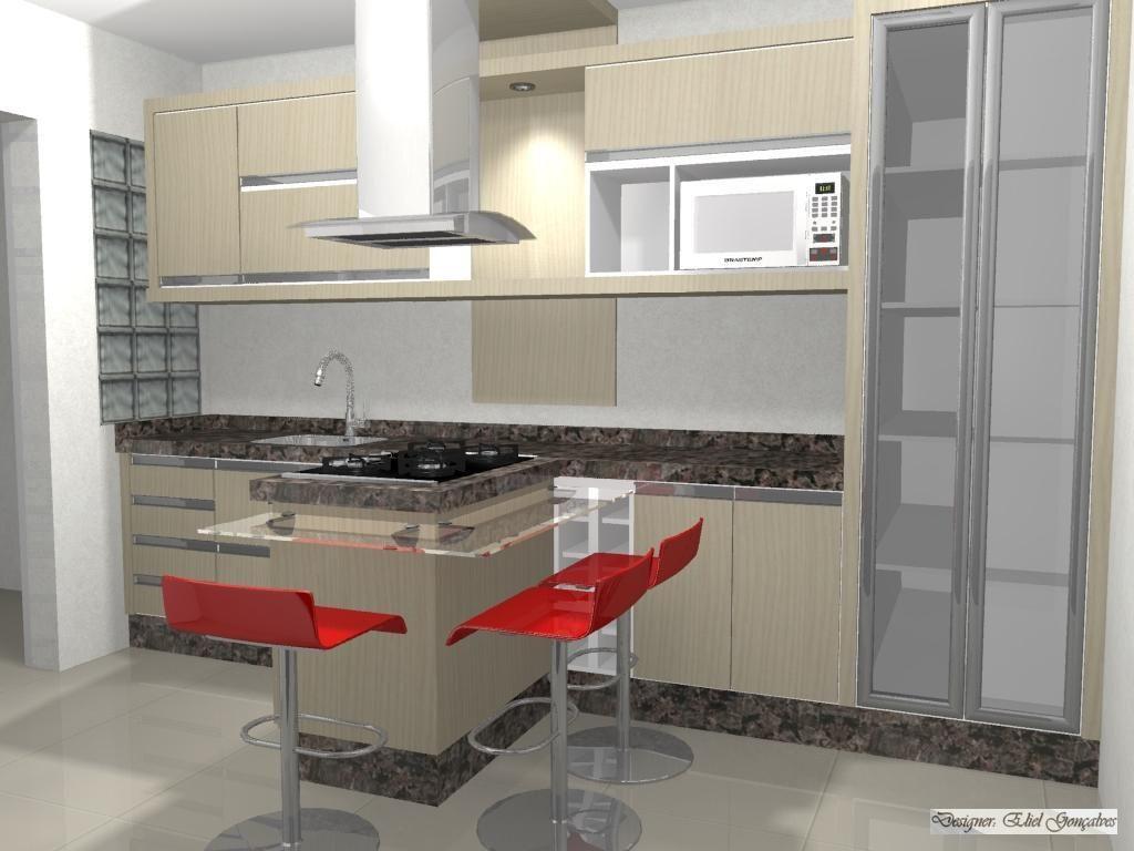 Cozinha Americana Com Bancada De Vidro Cozinha Webpage