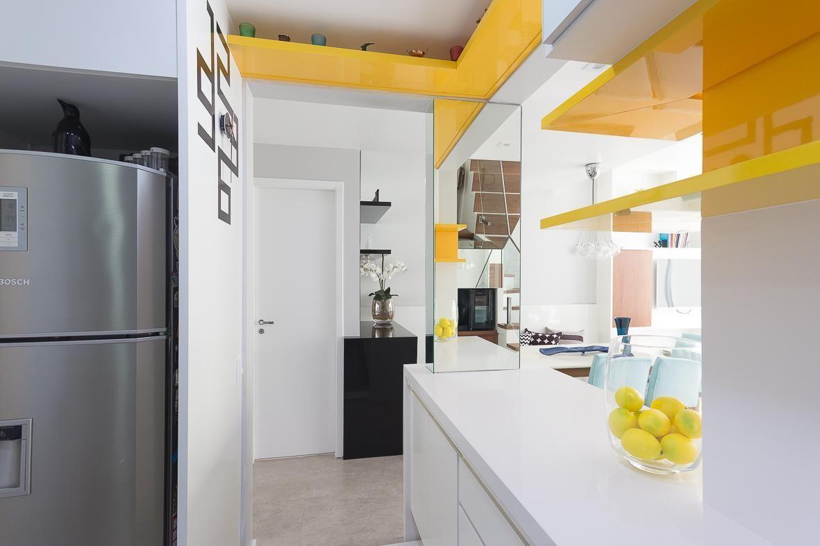 Cozinha Planejada Branca E Amarela De Elen Saravalli 40827 No Viva