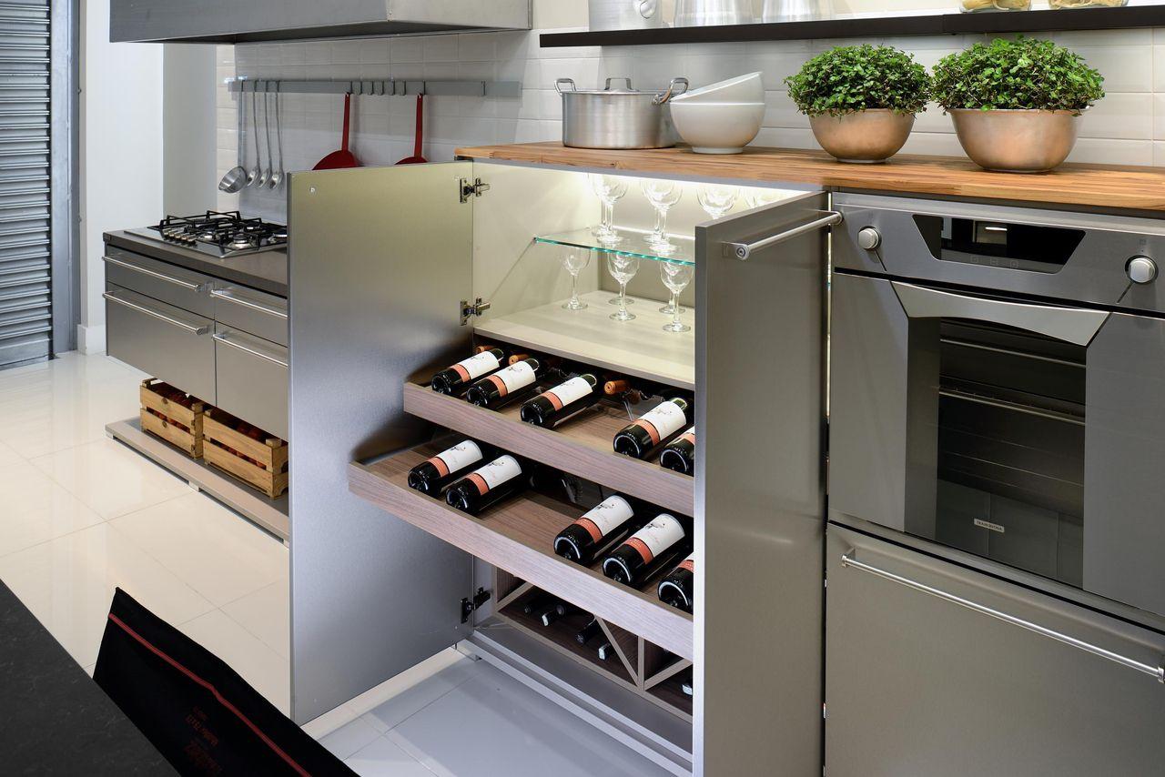 Cozinha Planejada Com Adega De Evviva Bertolini 67737 No Viva Decora