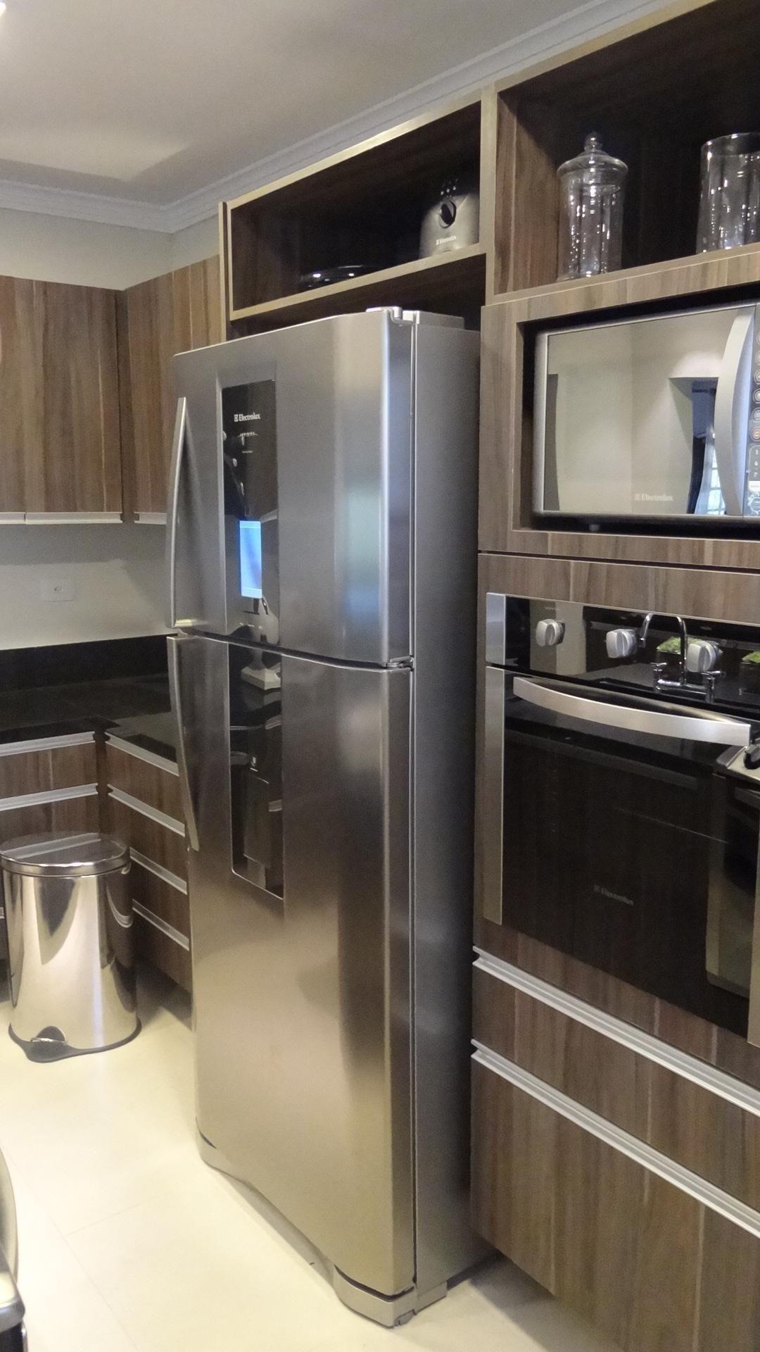Wibamp Com Cozinha Planejada Eletrodomesticos Inox Id Ias Do  ~ Cozinha Planejada Preta E Inox