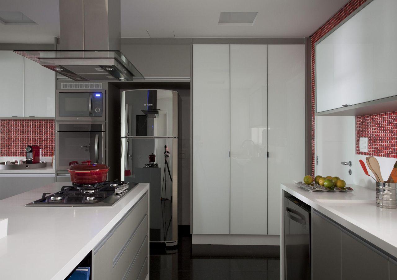 Cozinha Planejada Com Geladeira Em Inox De Rica Salguero 65572