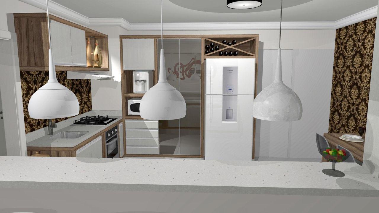 Cozinha Americana Com Adega E Arm Rios De Renata Oliveira 59014 No