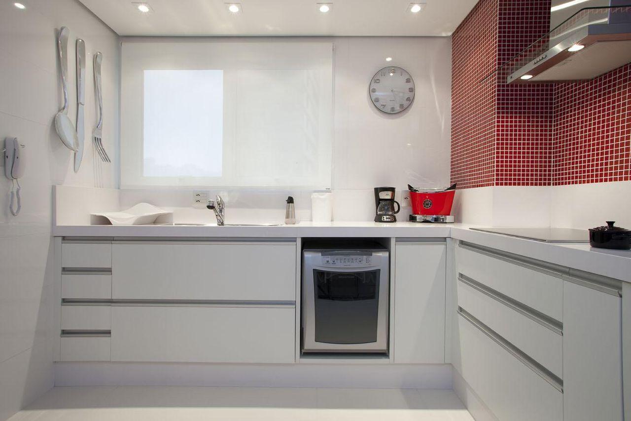 Muito Cozinha branca com lava Louça de Deborah Basso - 63840 no Viva Decora XF13