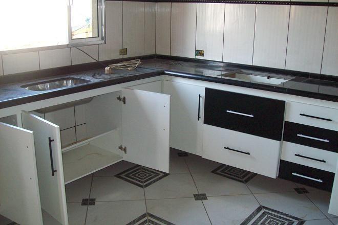 Aparador Aliança ~ Armario De Cozinha Planejado Preto Undefined Loading Zoom Parede Cozinha Moderna Com Ladrilho