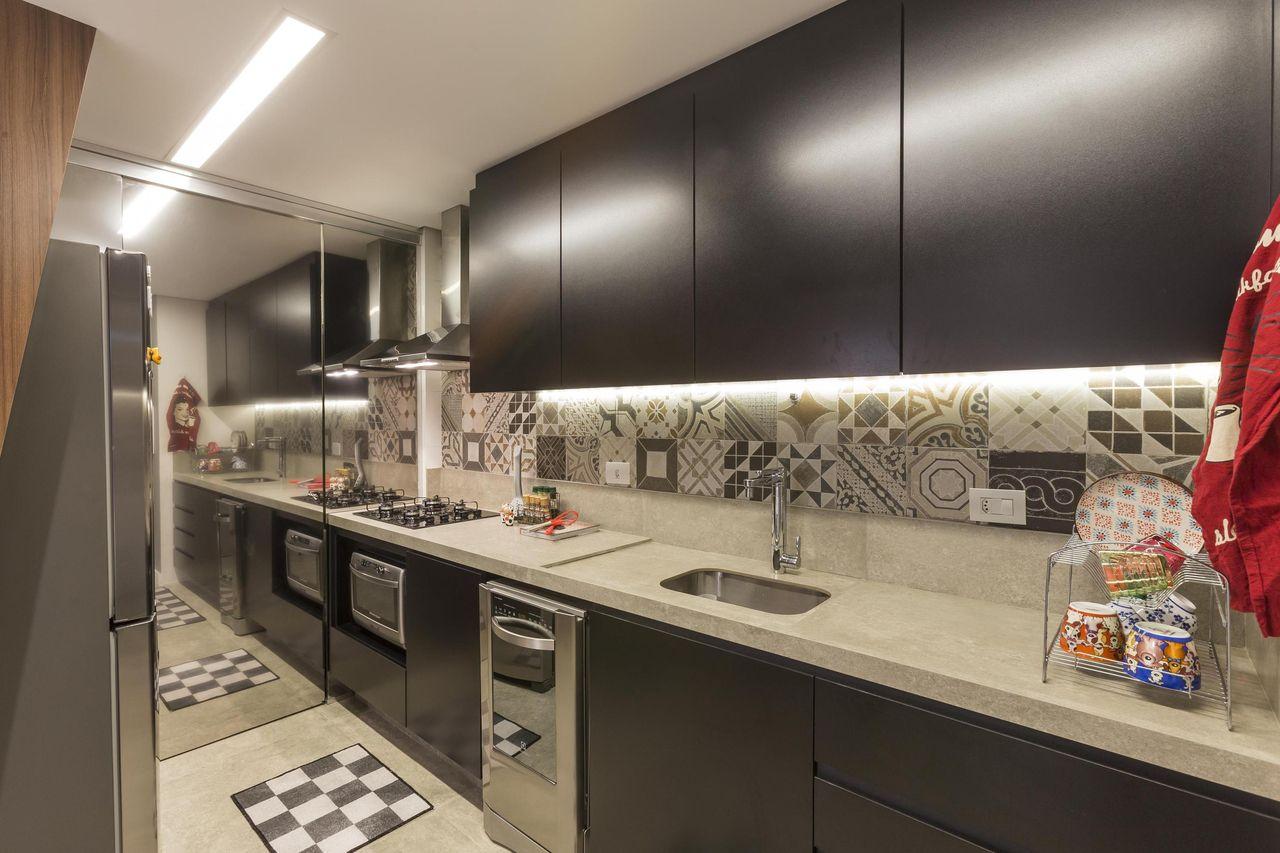 Cozinha Com Azulejo De Ladrilho De Conseil Brasil 74644 No Viva Decora